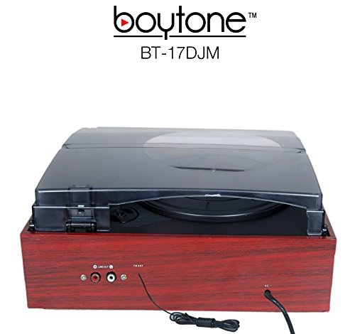 Boytone BT-17DJM 3-Speed Stereo Turntable Belt drive with 2 Built in Speakers Digita