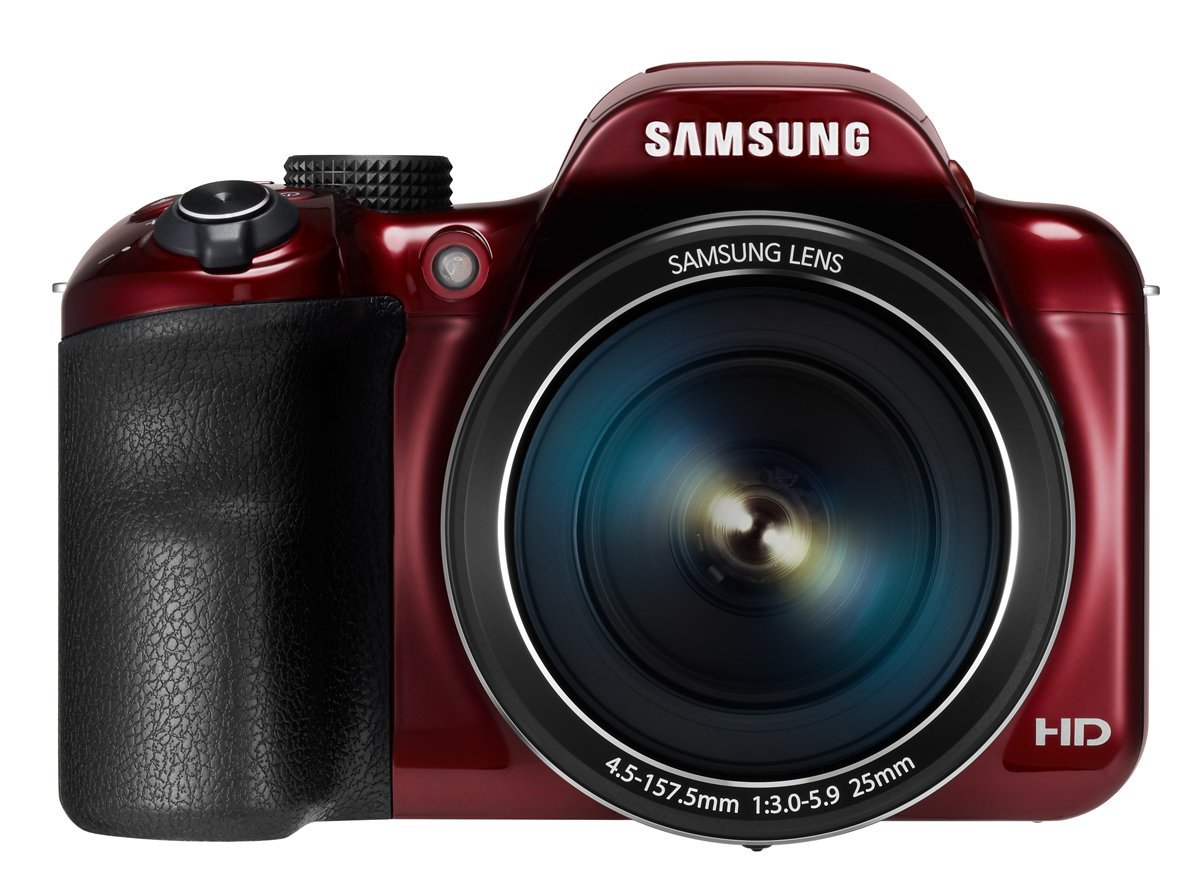 Samsung WB1100F 16.2MP CCD Smart WiFi & NFC Digital Camera RED