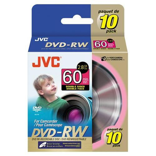 JVC 8cm Rewritable DoubleSided DVDRW for Camcorder