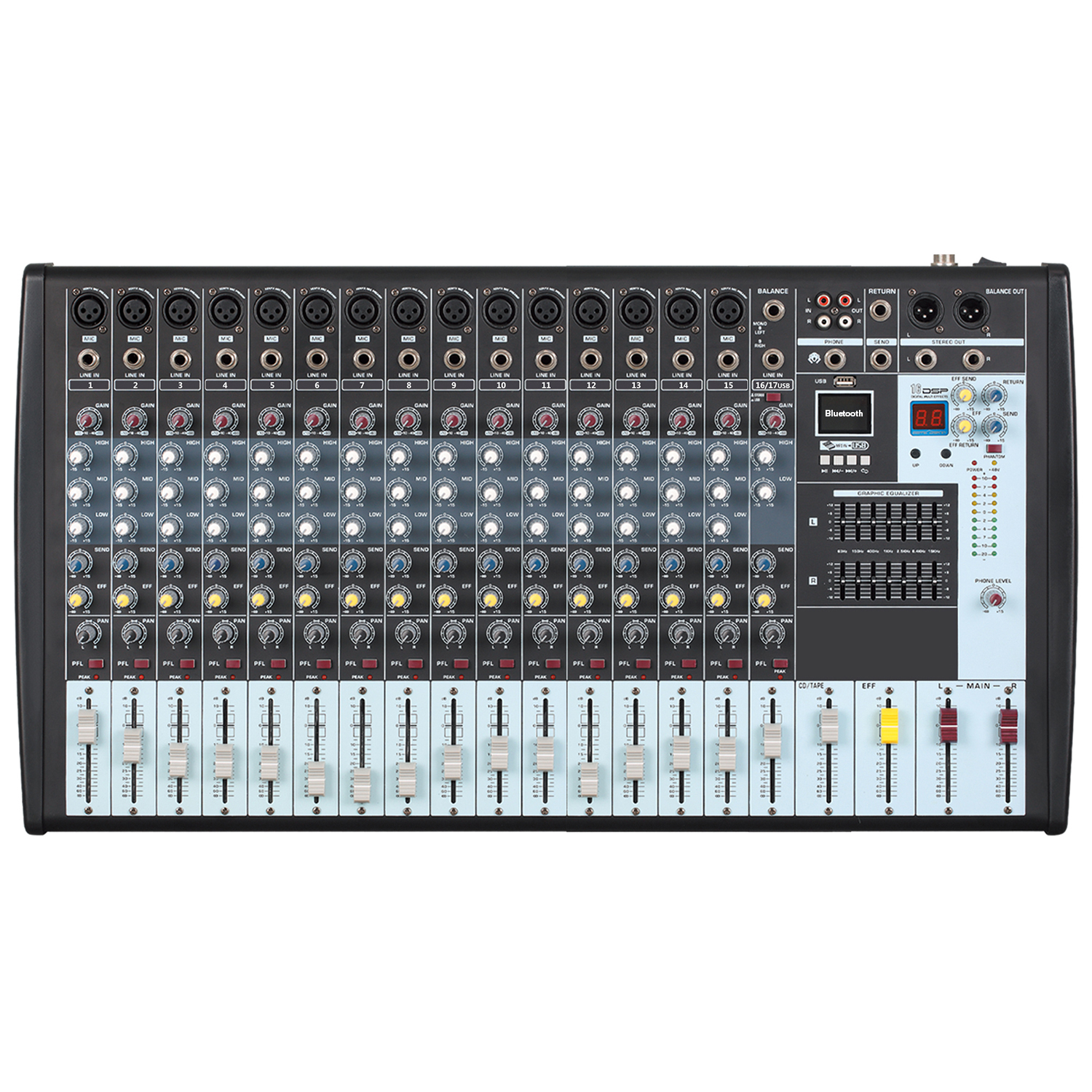 how to connect equalizer to mixer