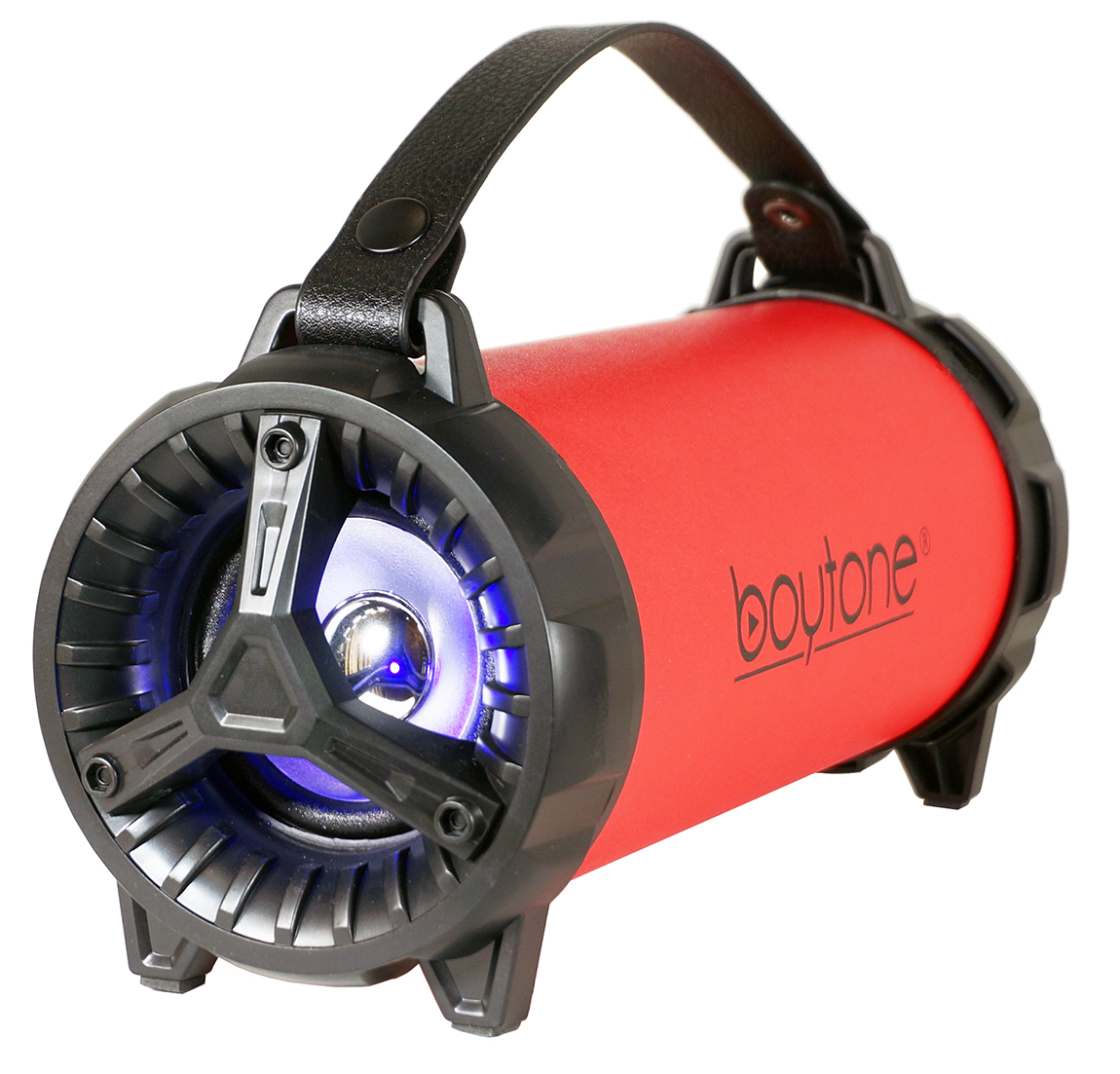 Boytone BT-40RD Portable Bluetooth Indoor/Outdoor Speaker 2.1 Hi-Fi Cylinder Loud Speaker with Built-in 2x3 Sub