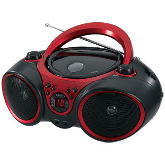 CD-490 CD BoomBox W/Aux In