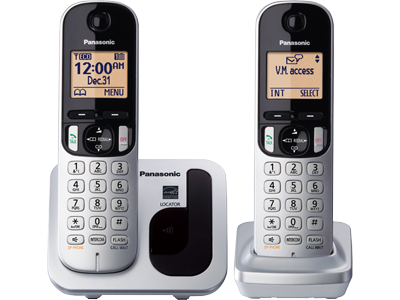 Panasonic KXTGC212S RB Expandable Digital Phone with 2 Cordless Handsets
