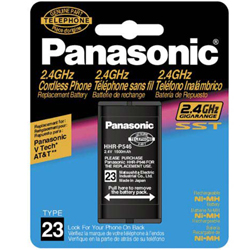 Panasonic HHR-P546 Panasonic Cordless Telephone Battery, Type 23