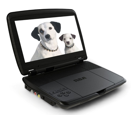 RCA DRC96100 10-Inch Portable DVD Player with Rechargeable Battery, Black