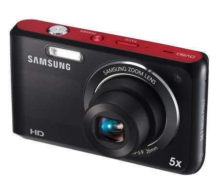Samsung DV50 Dualview 16.0 MP 5X Optical Zoom Digital Camera, Re
