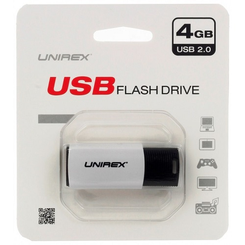 Unirex USFP-204 WHITE 4GB Push USB 2.0 Flash Drive