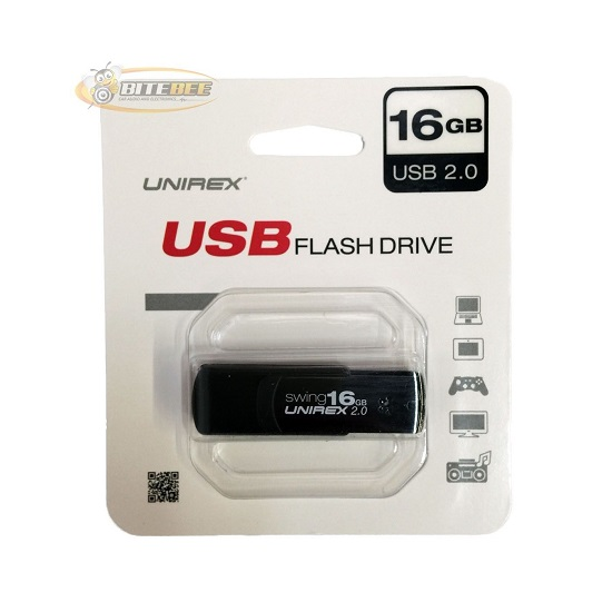 Unirex 16GB BLACK COLOR USB 2.0 Flash Drive USFW-216S