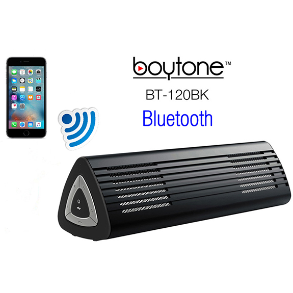 Boytone BT-120BK Ultra-Portable Wireless Bluetooth Speaker - Stealth Black