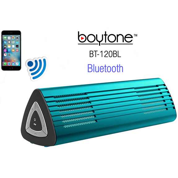 Boytone BT-120BL Ultra-Portable Wireless Bluetooth Speaker - Electric Teal