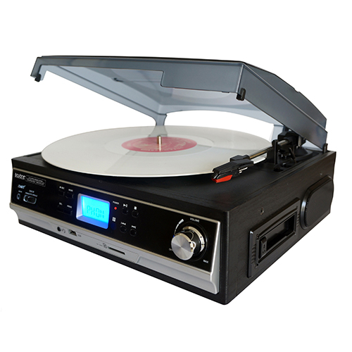 Boytone BT-16DJB-C 3-speed Stereo Turntable with 2 Built in Speakers Digital LCD Dis