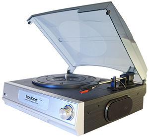 Boytone BT-17TB Full Size Turntable + 2 Built in Speakers & Headphone Jack
