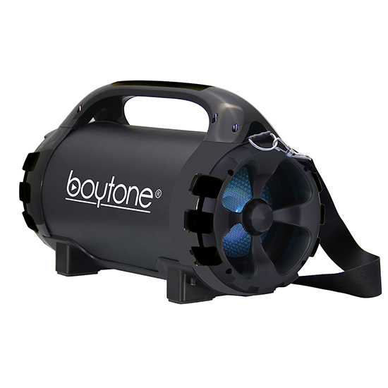 "Boytone BT-46BK Portable Bluetooth Indoor/Outdoor 2.1 Hi-Fi Cylinder Loud Speaker Built-in 5.25"" + 1.50"""