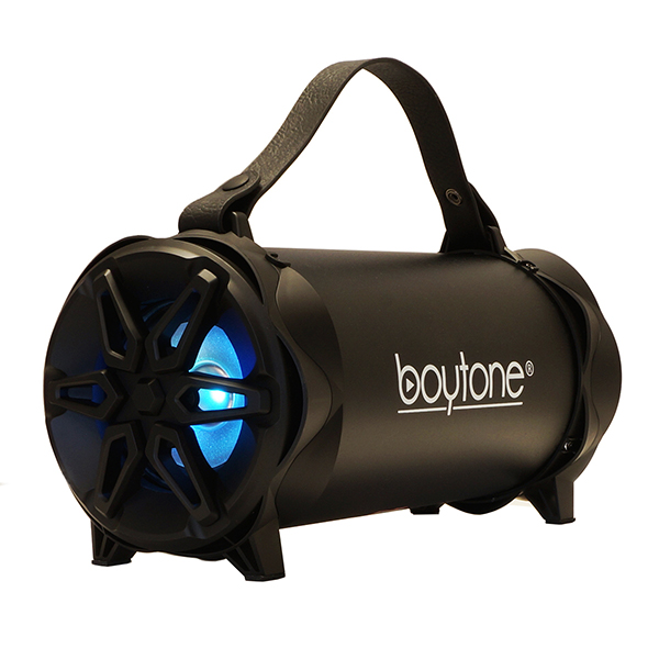 "Boytone BT-42BK Portable Bluetooth Indoor/Outdoor 2.1 Hi-Fi Cylinder Loud Speaker with Built-in 4"" + 3"""