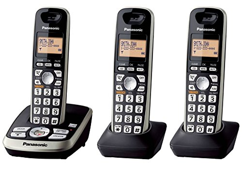 Panasonic KX-TG4223B Expandable Digital Cordless Answering System with 3 Handsets