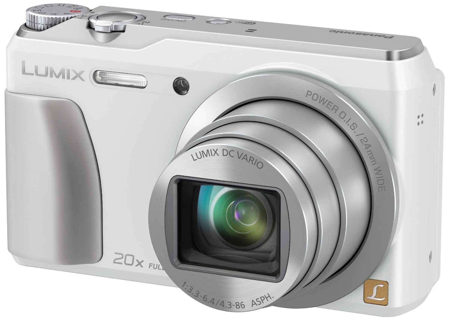 Panasonic 16.1 MP Digital Camera with 3.0-Inch TFT LCD (White)